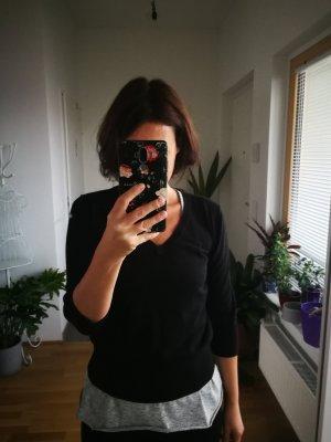 Maglione a maniche corte nero