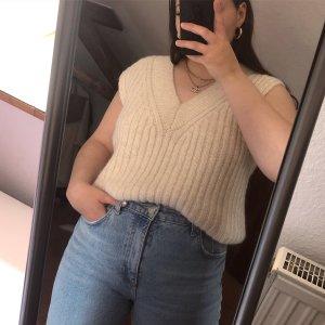H&M Sweter bez rękawów z cienkiej dzianiny Wielokolorowy