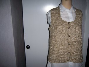 Fine Knitted Cardigan bronze-colored
