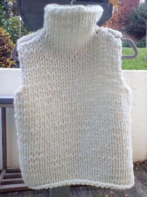 Cardigan long crème laine