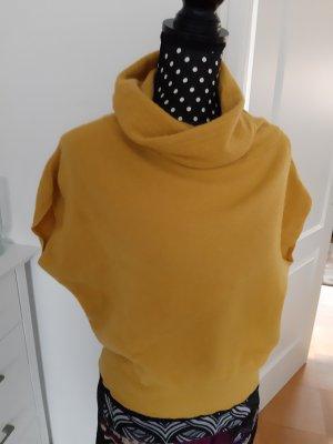 United Colors of Benetton Cárdigan de punto fino amarillo oscuro