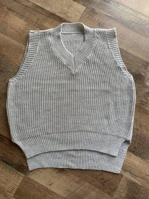 Fine Knitted Cardigan light grey-beige