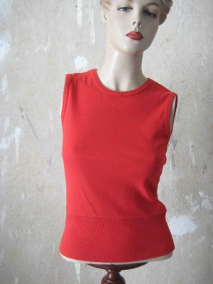 H&M Fine Knitted Cardigan red cotton