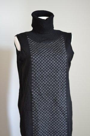 Pullunder-Kleid mit Schachbrett Mohair/Wolle/Tierhaar