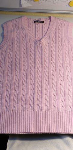 Jake*s Sweter bez rękawów z cienkiej dzianiny jasny różowy