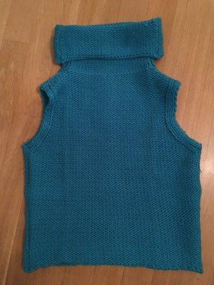 Benetton Cárdigan de punto fino azul claro tejido mezclado