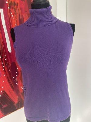 Polo Ralph Lauren Sweter bez rękawów z cienkiej dzianiny fiolet
