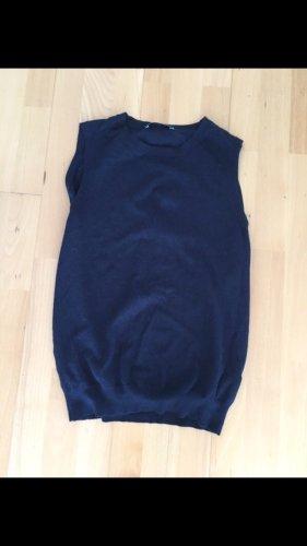 Zara Fijn gebreide cardigan donkerblauw