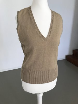 Sisley Fine Knitted Cardigan light brown-camel wool