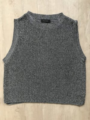 Atmosphere Fine Knitted Cardigan black-silver-colored