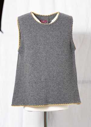 Heidekönigin Fine Knitted Cardigan multicolored wool