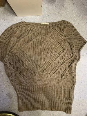 Makena Lei Lange cardigan beige-grijs-bruin