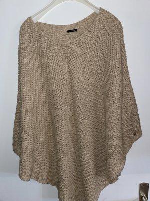 Marco Polo Sweter bez rękawów z cienkiej dzianiny beżowy