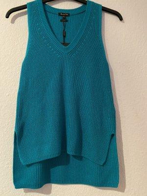 Massimo Dutti Fine Knitted Cardigan turquoise-cadet blue