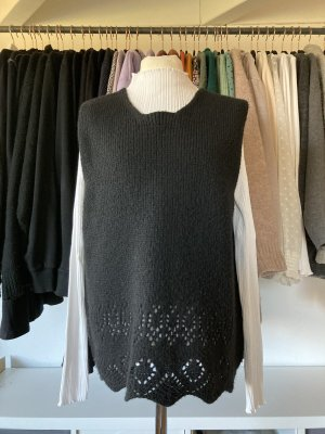 Basset Fine Knitted Cardigan black