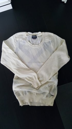 Barbour Knitted Sweater natural white cotton