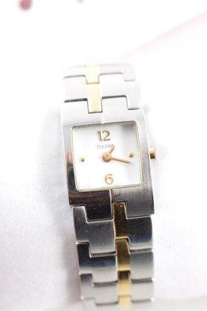 pulsar Horloge met metalen riempje zilver-goud zakelijke stijl