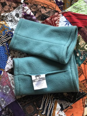 Tranquillo Fleece handschoenen lichtblauw-turkoois