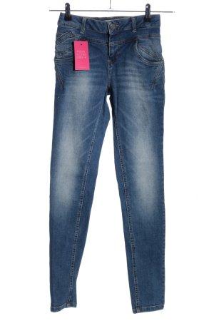 PULZ Jeans Skinny Jeans blau Casual-Look