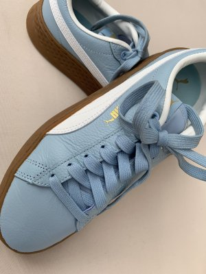 Puma Lace-Up Sneaker light blue leather