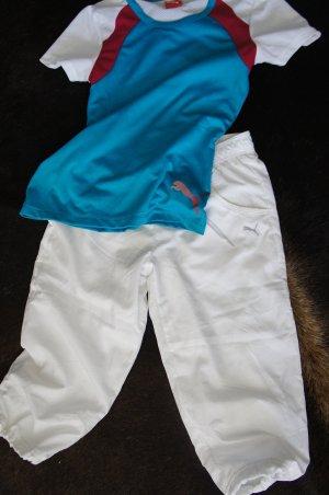 PUMA Anzug T-Shirt Hose Größe 36 TOP Capri