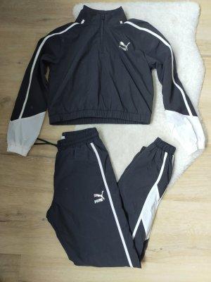 Puma Traje tipo frac negro-color plata