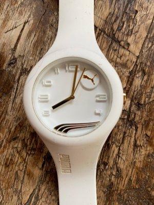 Puma Reloj analógico blanco-color oro
