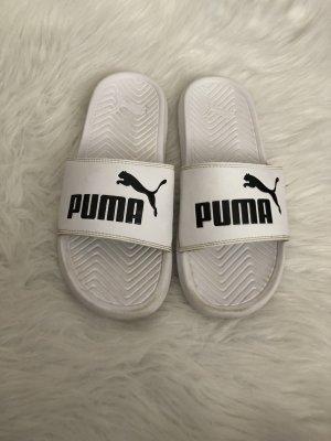 Puma Strandsandalen wit-zwart