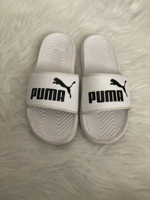 Puma Sandalias de playa blanco-negro