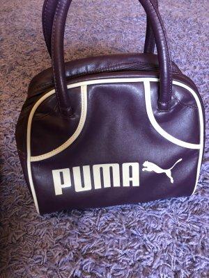 Puma Borsa con manico viola scuro-bianco