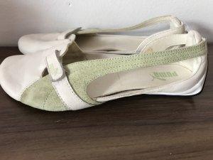 Puma Bailarinas sin talón blanco-verde claro