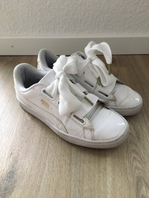 Puma Basket Heart Patent Damen Sneaker weiß Lack Gr. 37,5