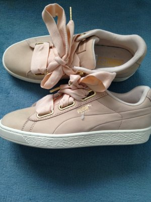 Puma Basket heart Sneakers Nubuk rosa Gr 39
