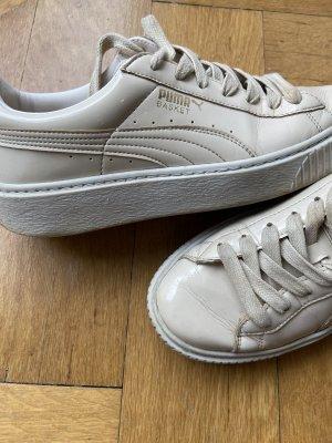 Puma Basket Platform beige / Lack Gr. 40