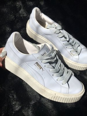 Puma Lace-Up Sneaker natural white-azure