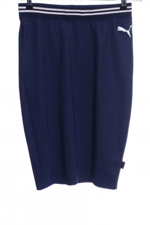 Puma Bleistiftrock blau-weiß Casual-Look
