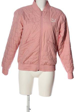 Puma Bomberjacke pink Steppmuster Casual-Look