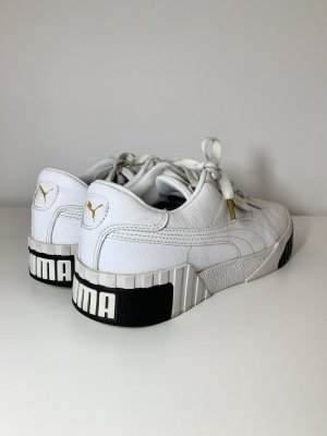 Puma CALI - Sneaker low - white/black