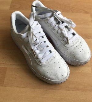 Puma Cali weiße Sneaker aus Echtleder