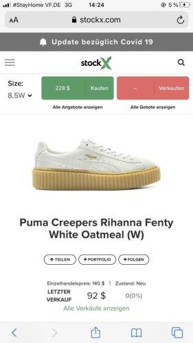 Puma Creepers Rihanna Fenty White Oatmeal
