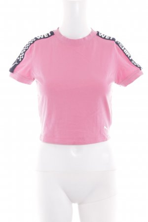 Puma Cropped shirt gedrukte letters casual uitstraling