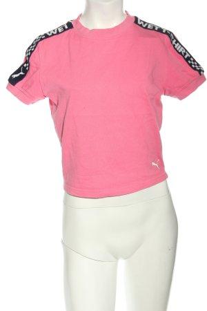 Puma Cropped Shirt Schriftzug gedruckt Casual-Look