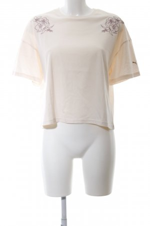 Puma Cropped Shirt wollweiß Blumenmuster Casual-Look