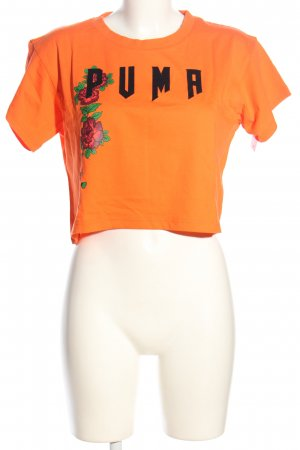 Puma Cropped Shirt Blumenmuster Casual-Look
