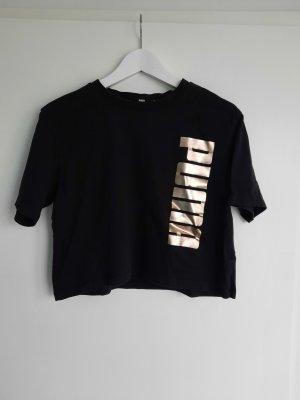 Puma Sports Shirt black-gold-colored cotton