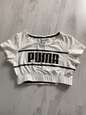 Puma Top o skróconym kroju biały