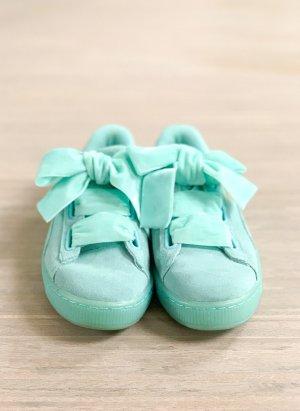 PUMA Damen Suede Heart Reset Sneaker in türkis, Gr. 40