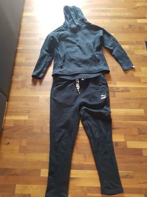 Puma Pantalon de sport blanc-noir
