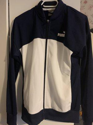 Puma Kurtka sportowa biały-ciemnoniebieski