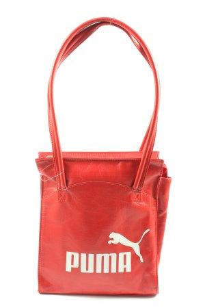 Puma Sac Baril rouge lettrage imprimé style décontracté